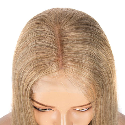 Image of G Blond Straight 4x4 Lace Closure Wigs 150% Density Human Hair Wig