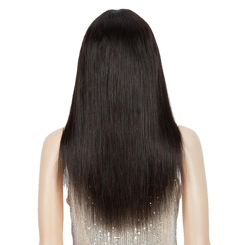 Human Hair Straight Hair Colored Wigs Basic Wigs With Bangs For Women