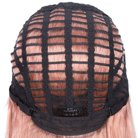 Rebecca Fashion Straight Part Lace Human Hair Pink Bob Wigs With Bady Hair 12inch