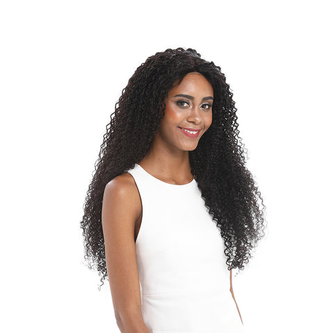 13x4 Lace Front Wigs Kinky Curly Human Hair 180% Density Natural Black Color