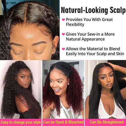 Rebecca Fashion 360 Lace Frontal Wigs 100% Deep Wave Human Hair Wigs For Black Women 150% Density Natural Black Color