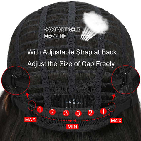 Image of 4x4 Lace Front Wigs Kinky Curly Human Hair Wigs 150% Density Natural Black Color