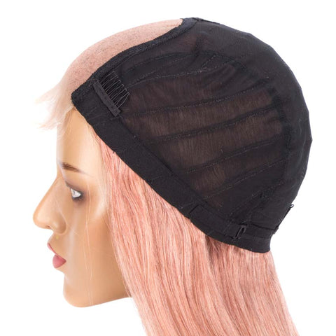Image of 4*4 Lace Closure Pink Straight Hair Wig 150% Density Colored Wigs