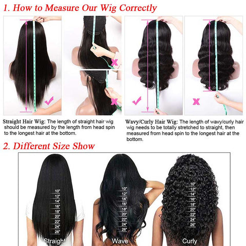 Image of Rebecca Fashion 13x4 Lace Front Wigs Body Wave Human Hair 150% Density Natural Black Color