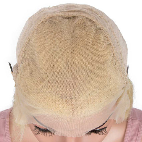 Image of Blonde Straight 13x6 Lace Front Wig Human Hair 150% Density
