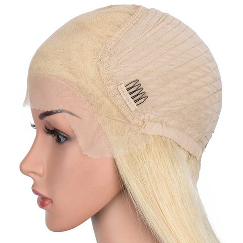 Blonde Straight 13x6 Lace Front Wig Human Hair 150% Density