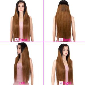 Ombre Brown 13x4 Lace Front Wigs Straight Human Hair Wigs 150% Density