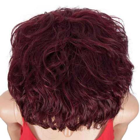 Red Wine Pixie Cut Short Wig Human Hair Wigs 9 inch