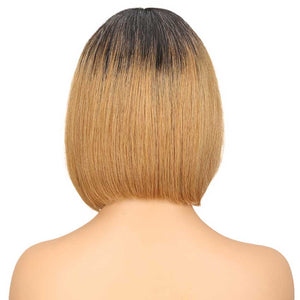 Short Bob Ombre Wig Lace Part 10 inch 130% Density Human Hair Wigs