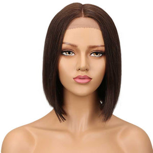 Short Bob Wig Natural Part 10 inch High Quality Human Hair Wigs