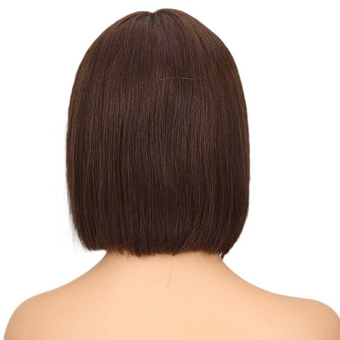 Image of Short Bob Wig Natural Part 10 inch High Quality Human Hair Wigs