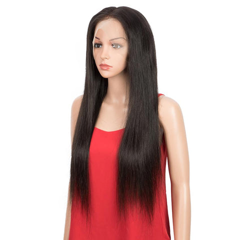 28inch Straight Full Lace Human Hair Wigs 150% Density Remy Hair Wig