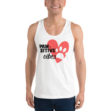Load image into Gallery viewer, Pawsitive Vibes Mens Tank