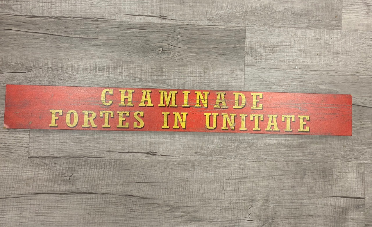 Distressed Wooden Sign