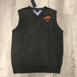 Tommy Hilfiger V-Neck Sweater Vest in Grey with Chaminade and Crest