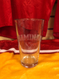 Chaminade Beer Glass with Etched Crest