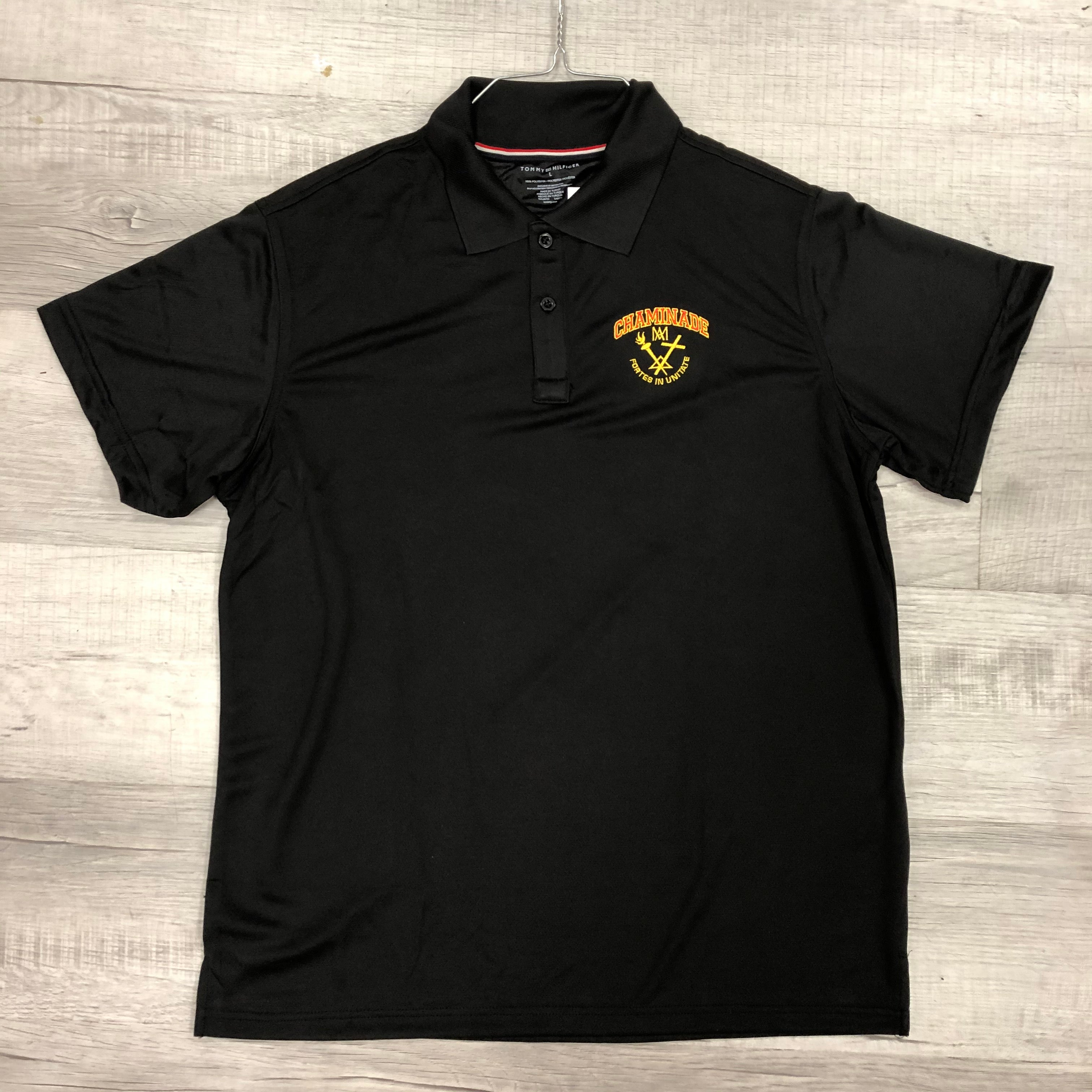 Tommy Hilfiger Polo in Black with Chaminade and Crest