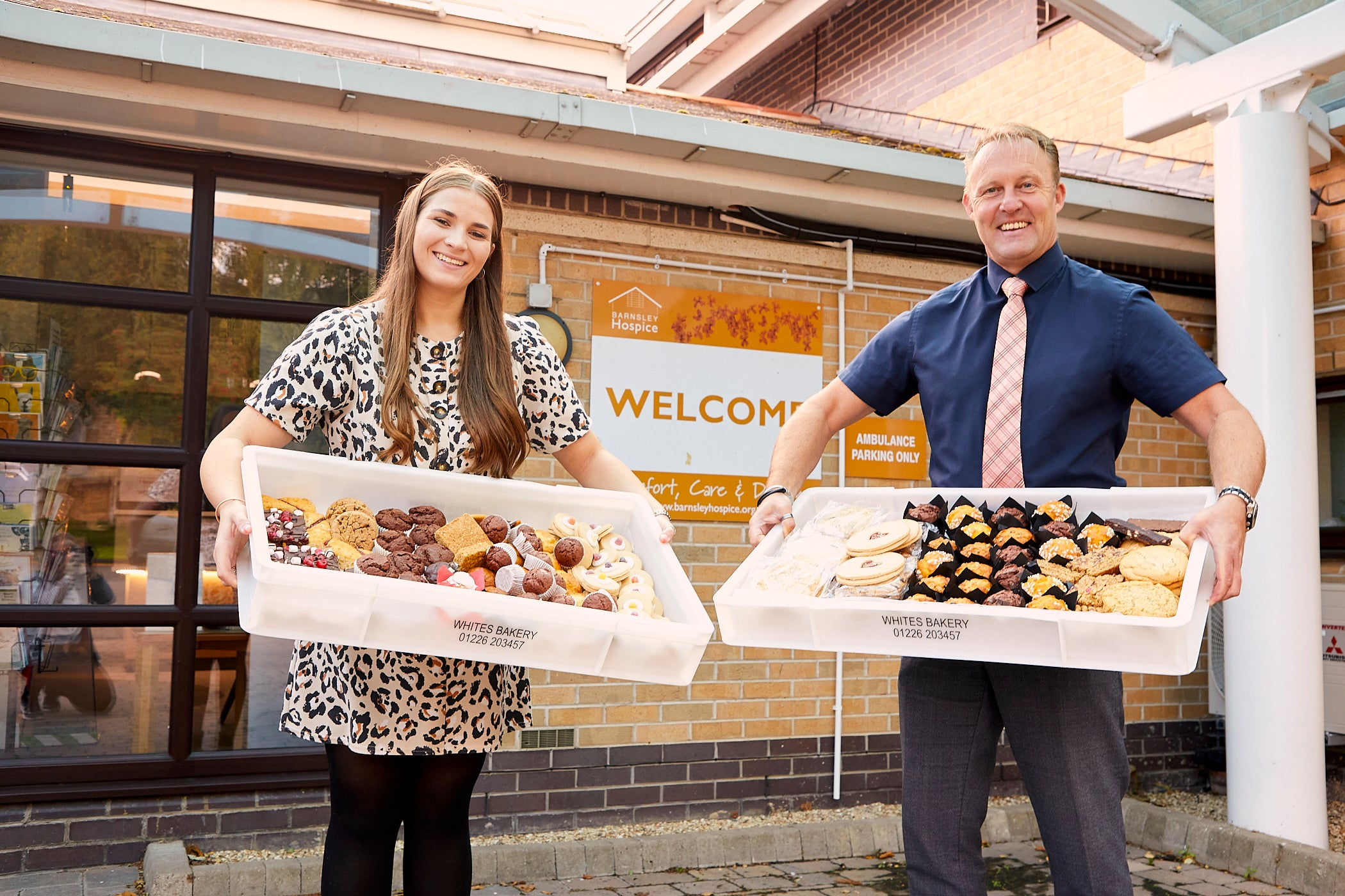 Georgina White and Simon Atkinson from Barnsley Hospice