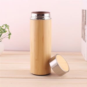 Creative Bamboo Thermos Bottle
