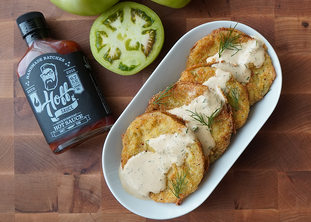 Fried Green Tomatoes With A Spicy Remoulade Sauce