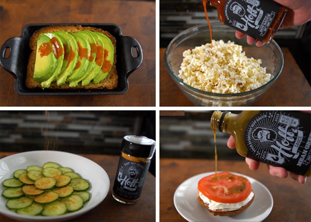 Spicy Healthy Snacks Using Hoff's Sauces and Seasoning