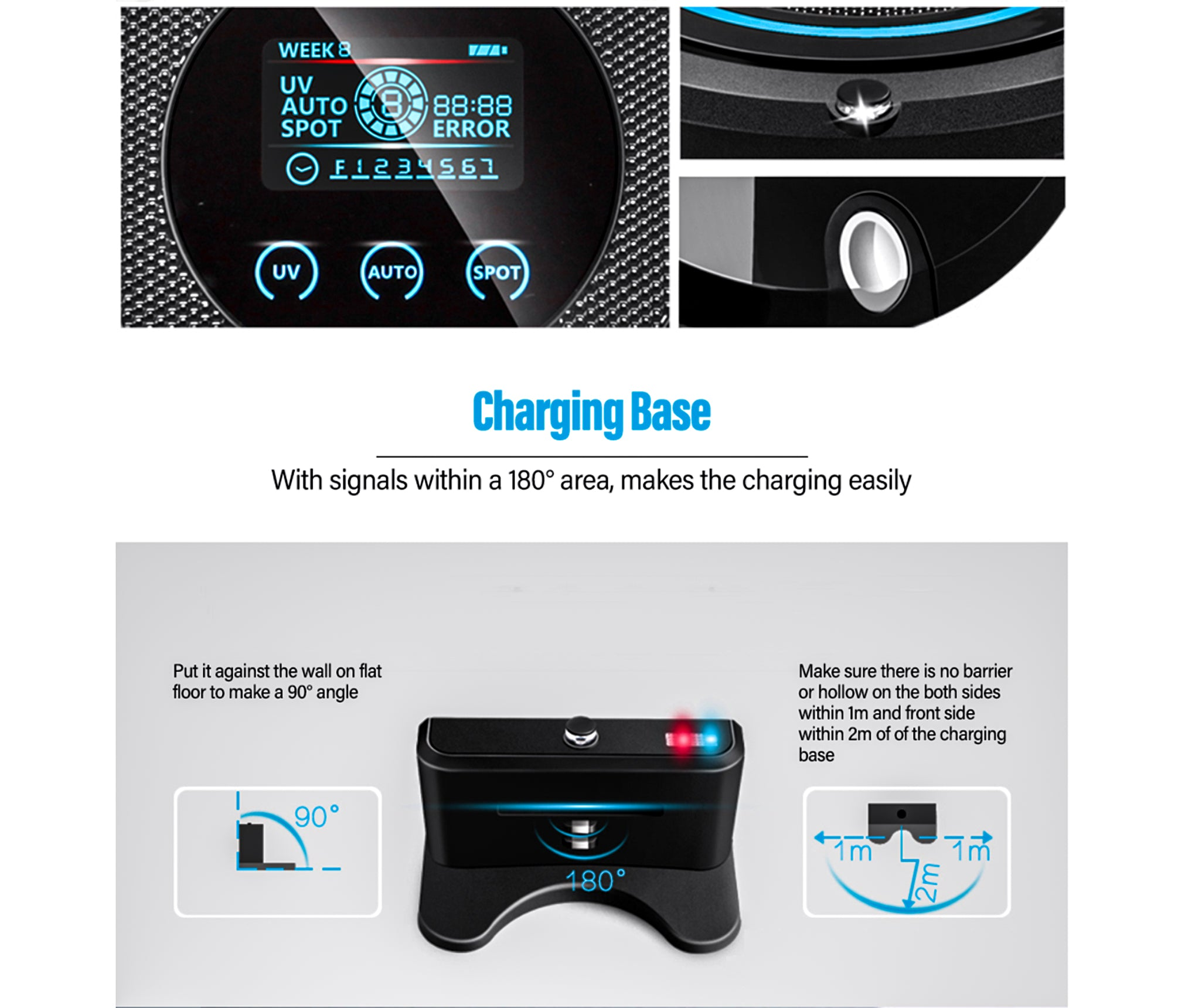 A338 Intelligent Cleaning Robot Sweeper Robotic Vacuum Cleaner