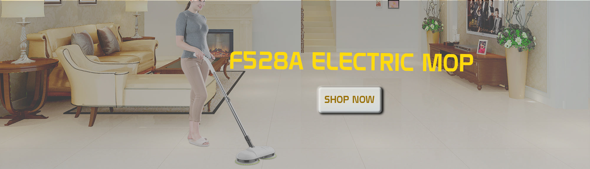 F528A  Cordless Electric Mop and Waxer