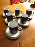 Hornsea Palatine Coffee Cups and Saucers
