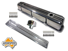 Ford 4.9 300 polished alloy valve cover and side cover