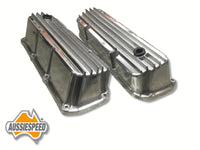 AS0026P Aussiespeed Ford Cleveland Polished Finned Tall Valve Covers