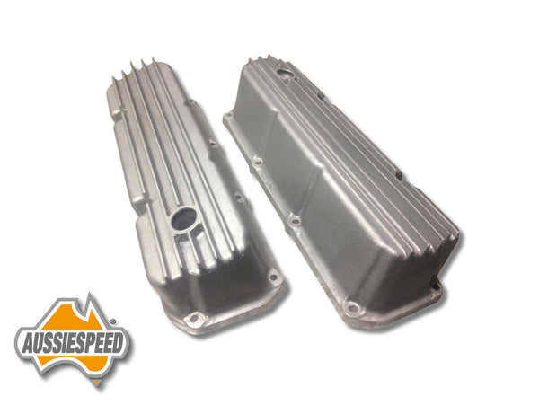AS0026R Ford Cleveland Finned Hot Rod Style Tall Valve Covers