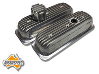 AS0034P Aussiespeed Polished 4.3 Tall Chevrolet V6 Vortec Replacement Valve Covers