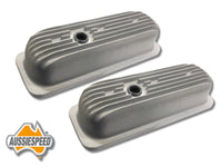 AS0034R Chevy V6 4.3 Tall Valve Covers for Roller Rockers Old School Finned
