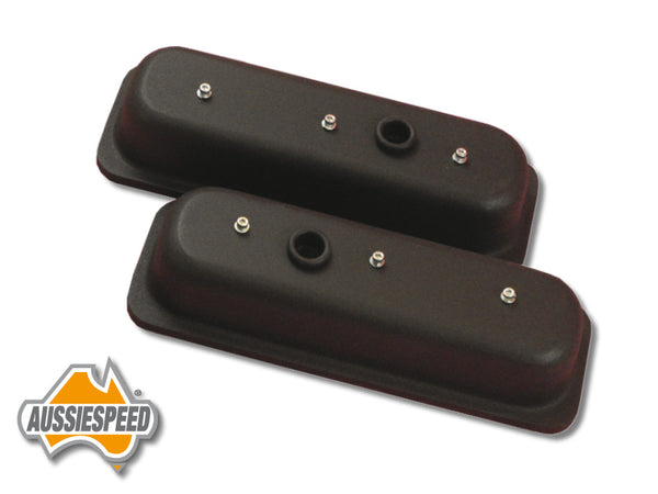 AS0037B Aussiespeed Black 4.3 Tall Chevrolet V6 Vortec Valve Covers