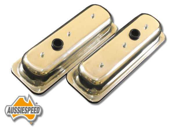 AS0037P Aussiespeed Polished 4.3 Tall Chevrolet V6 Vortec Replacement Valve Covers