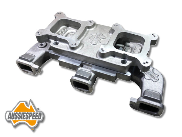 AS0038-AS0139 Inline Chevy 250 292 Dual 2x4 Intake Manifold