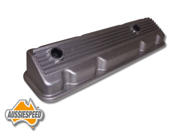 AS0170R Slant 6 Chrysler Alloy Rocker Cover Raw Finish Finned
