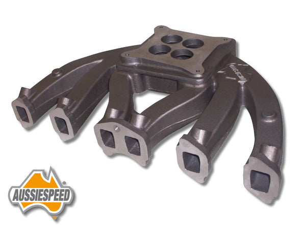 AS0199-AS0212 Aussiespeed Slant 6 Short Runner Performance 4 Barrel Intake Manifold 2 Piece