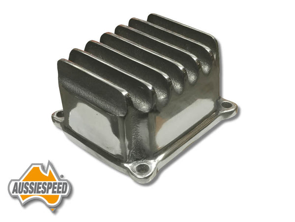 AS0469P Hemi Predator 211 Finned Small Engine Valve Cover Polished