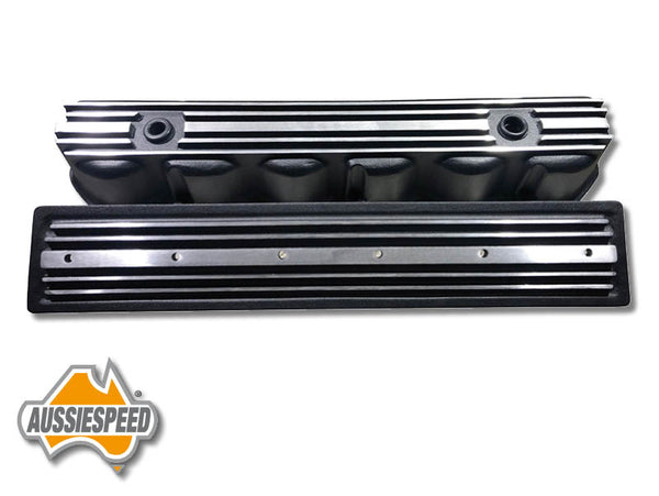 AS0544B-AS0436B Ford 240 300 3.9 Inline 6 Tall Black Aluminium Valve Cover