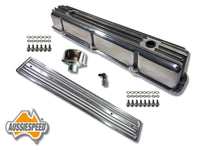 AS0544P-AS0436P Ford 240 300 3.9 Inline 6 Tall Aluminium Valve Cover Side Plate Polished Finish 6 Piece Kit