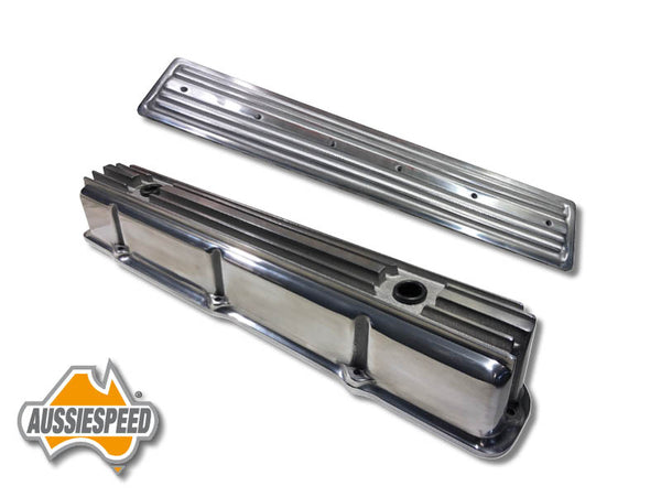 AS0544p-AS0436p Ford 240, 300 3.9 Inline 6 Tall Aluminium Valve Cover Polished