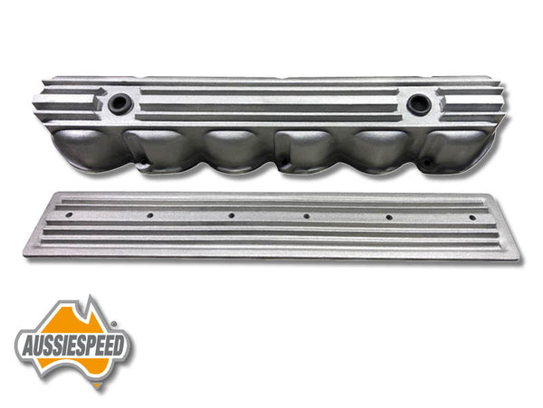 AS0544R-AS0436R Ford 240, 300 3.9 Inline 6 Tall Aluminium Valve Cover Raw Finish