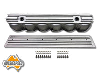 AS0544R-AS0436R Ford 240 300 3.9 Inline 6 Tall Aluminium Valve Cover Side Cover and Bolt Kit Raw Finish 4 Piece Kit