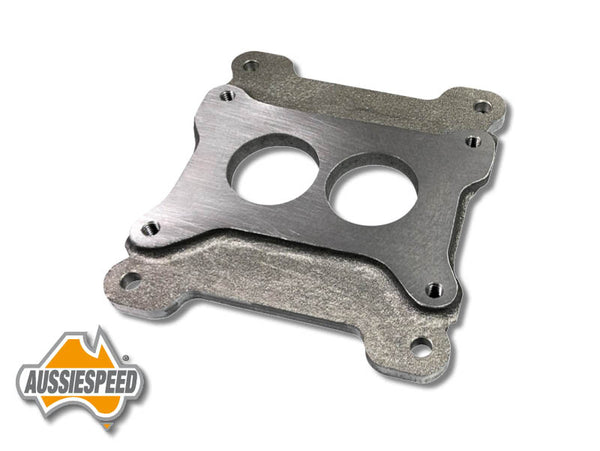 AS0574 Holley 2 Barrel Carb Adapter to Aussiespeed Manifold