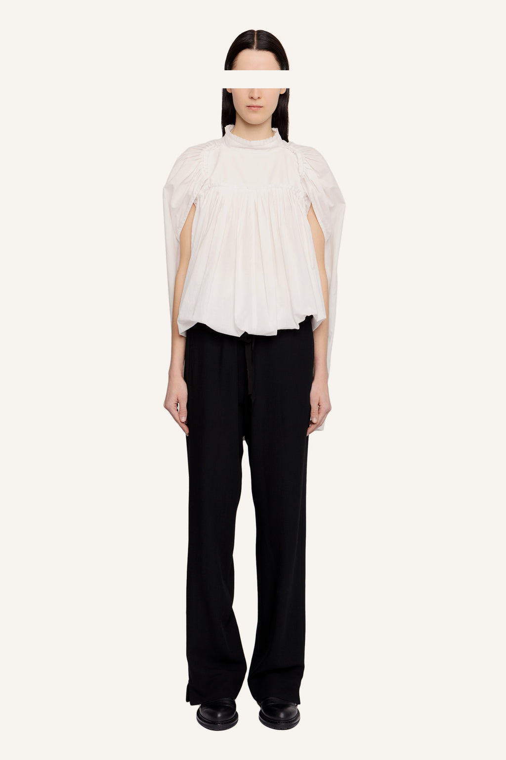 Pleated cotton top