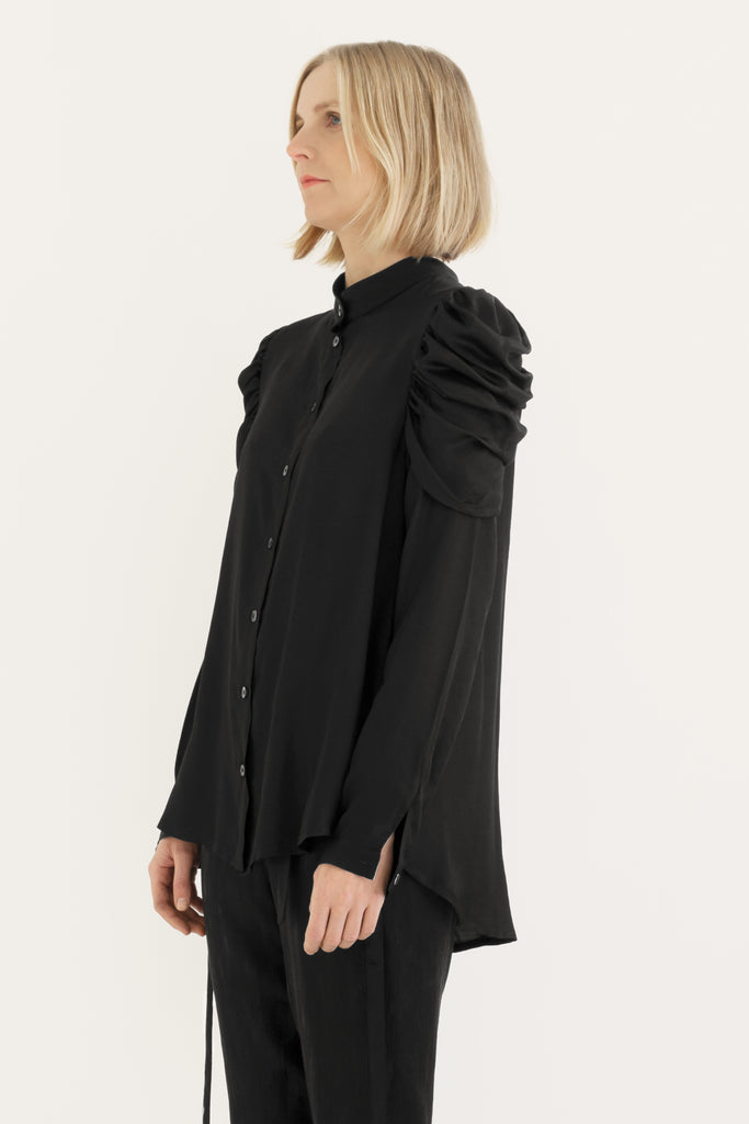 Puff sleeves loose shirt