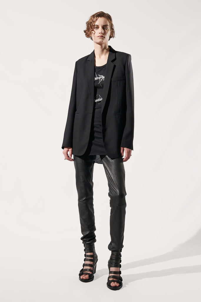 Long wool blazer