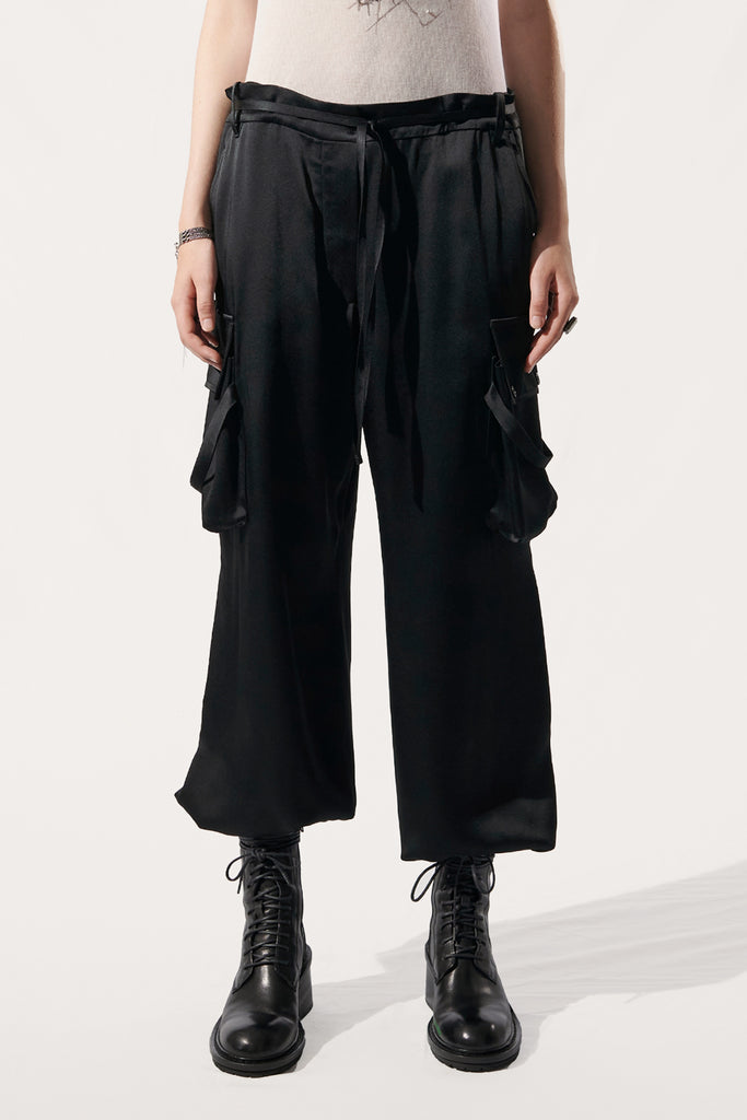 Pockets fluid trousers