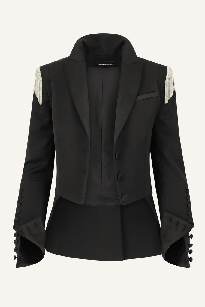 Tailcoat jacket with chains